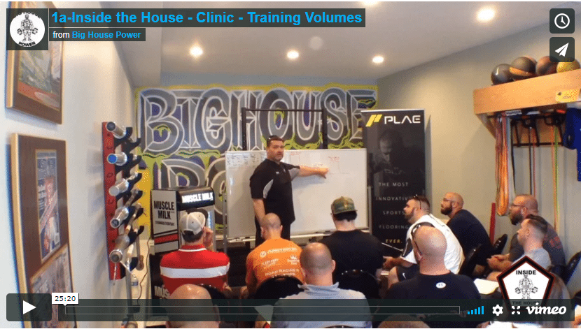 1a-Inside the House – Clinic – Training Volumes